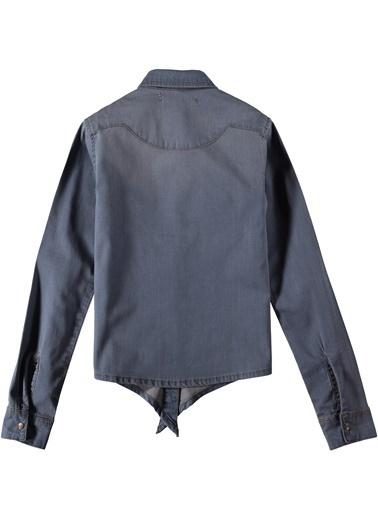 Nakışlı Jean Gömlek-Asymmetry